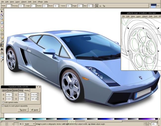 Inkscape vector design program