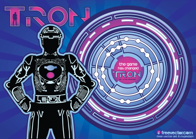 Tron Graphics by Vixent/Jav/Bombing Cat for FreeVector.com