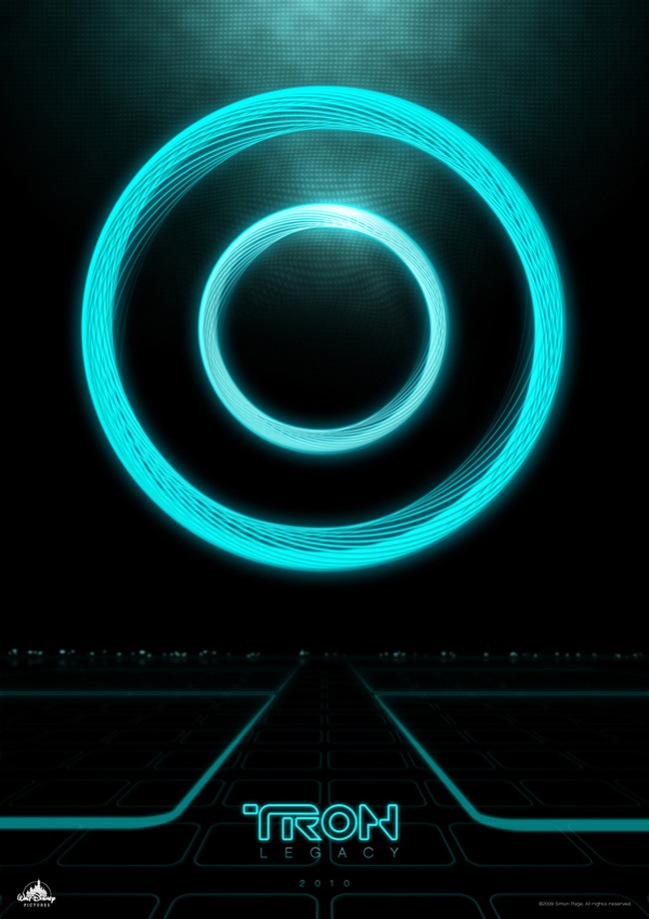 Tron graphics poster inspired by trailer