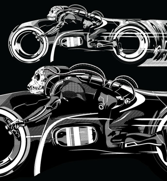 Tron Bike by Erik Baars