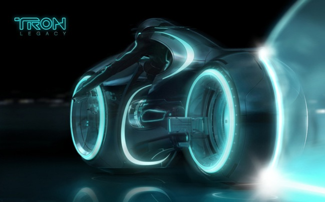 Tron Legacy movie poster by Simon Page