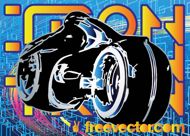 Free Tron Lightcycle by CG Johnson for FreeVector.com