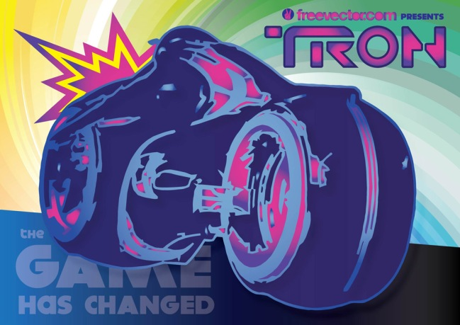 Tron Rider by CG Johnson for FreeVector.com