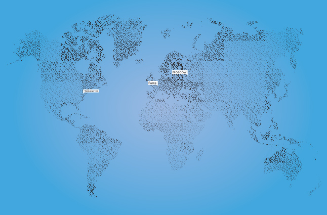 Polka Dotted World Map Vector