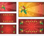 Christmas Vector Backgrounds Set