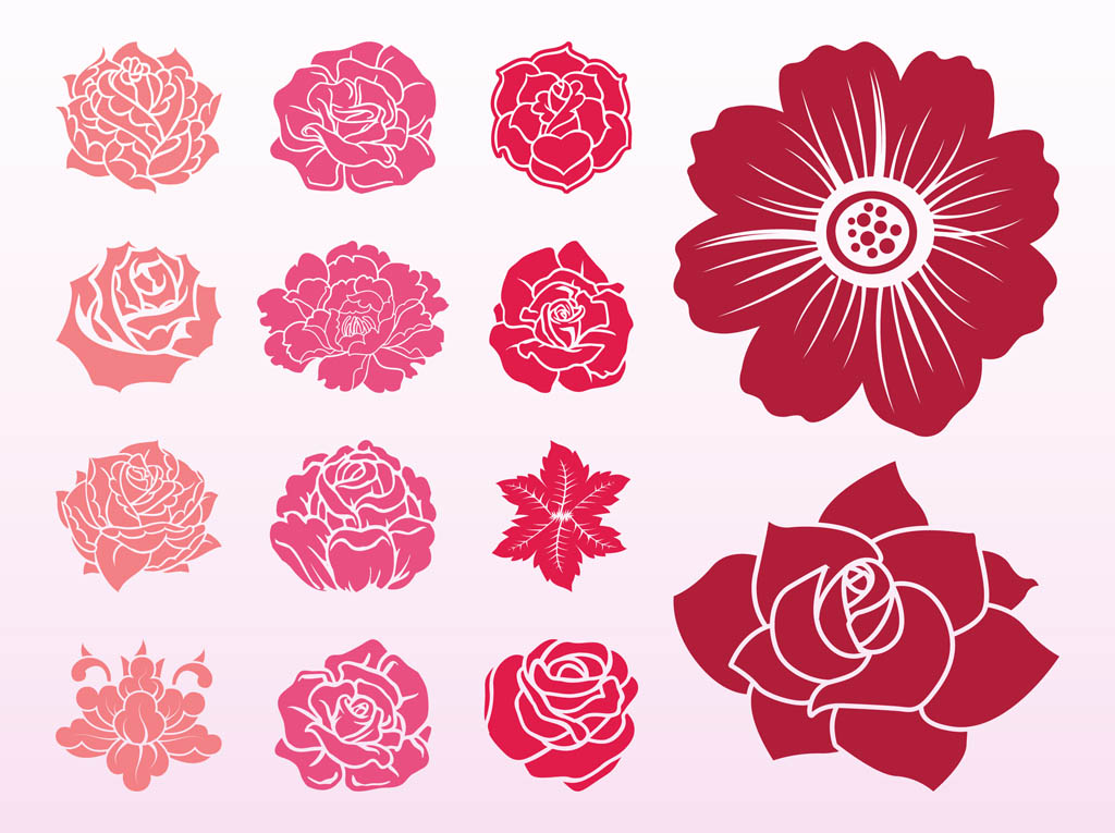 Blooming Flowers Set
