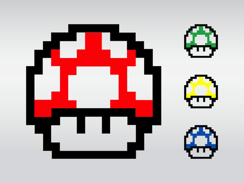 Super Mario Mushrooms