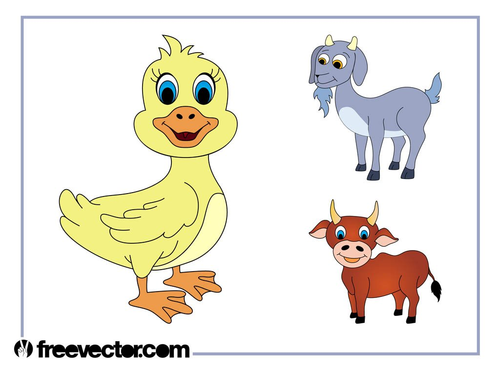 Cartoon Livestock Animals