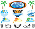 Hawaii Icons Set