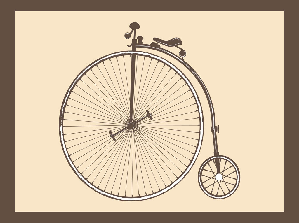 Antique Bike Vector