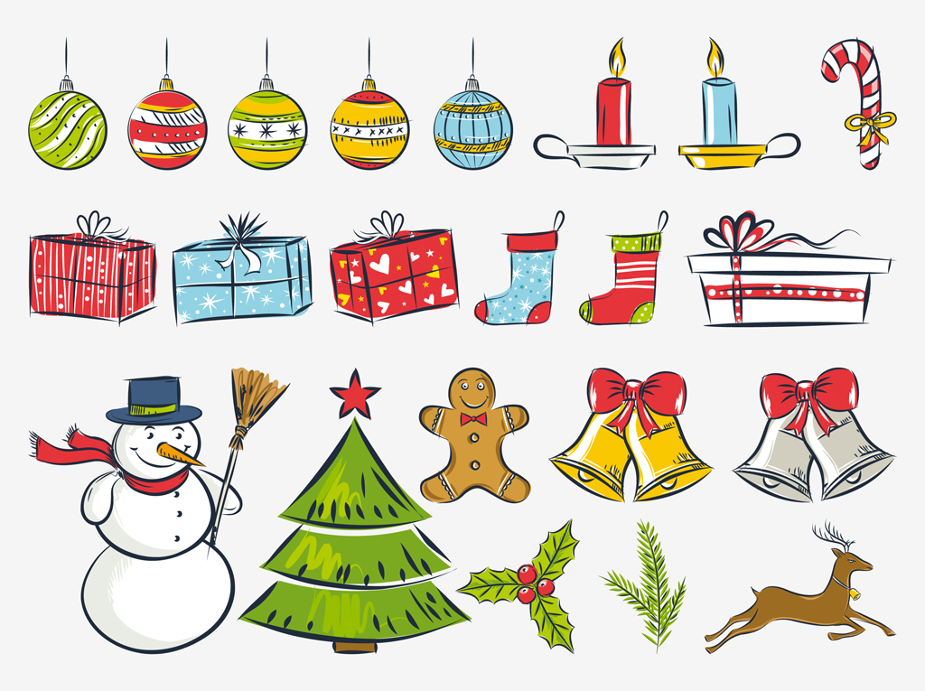 To Draw A Simple Christmas Stylized Drawings 1