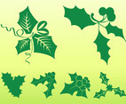 Mistletoe Leaves Set