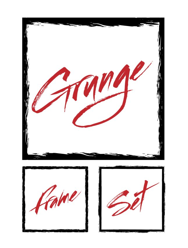 Grunge Frame Vector Set