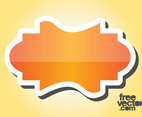 Orange Sticker Design