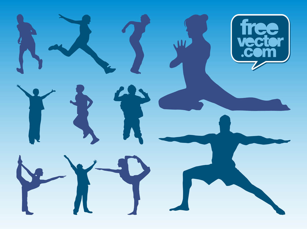 Workout Silhouettes Vector