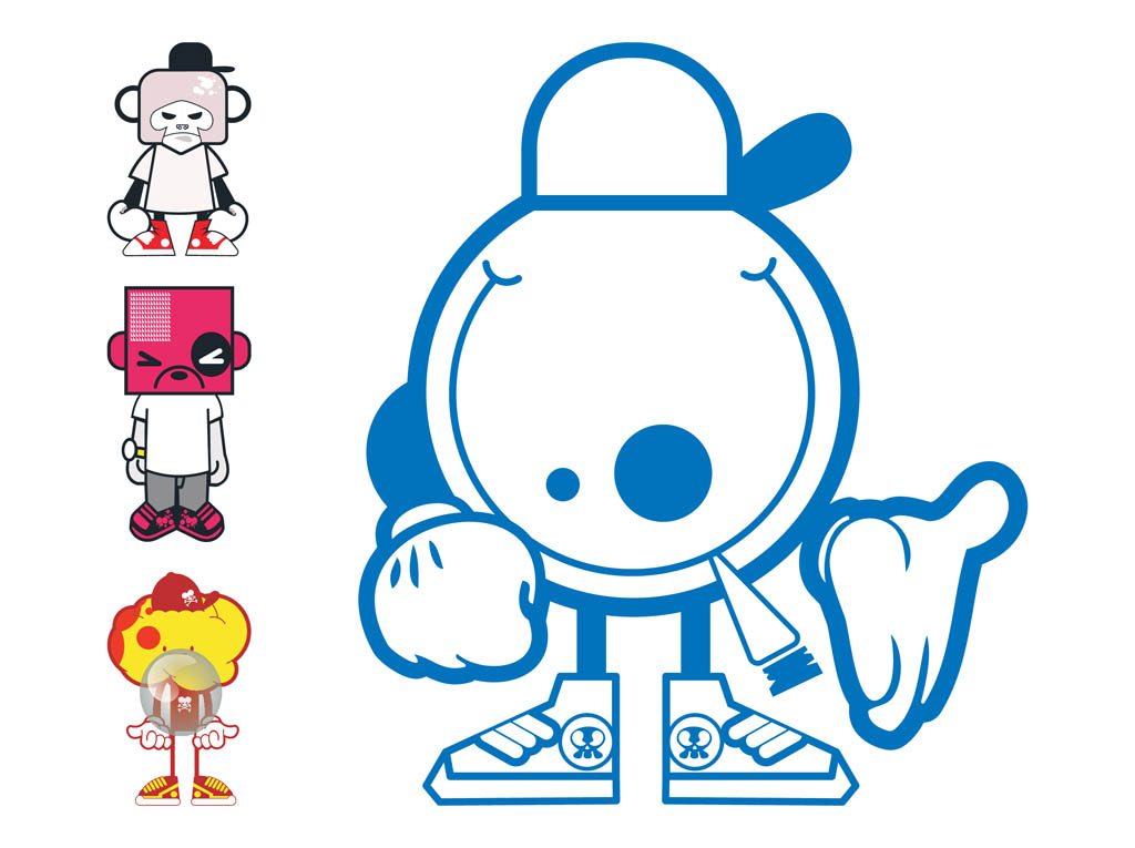 Character Design Free : Cartoon characters designs vector art graphics