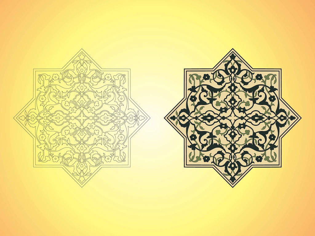 Afghan Decorations Vector