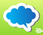 Blue Speech Balloon Sticker