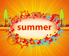 Summer Sunburst Background Vector