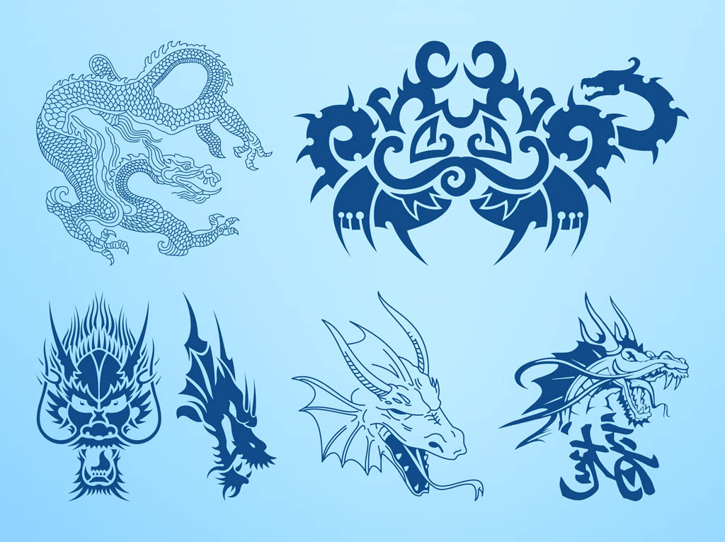 Dragons Vector Graphics