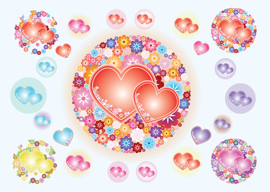 heart flowers vectors vector art  graphics  freevector, Beautiful flower