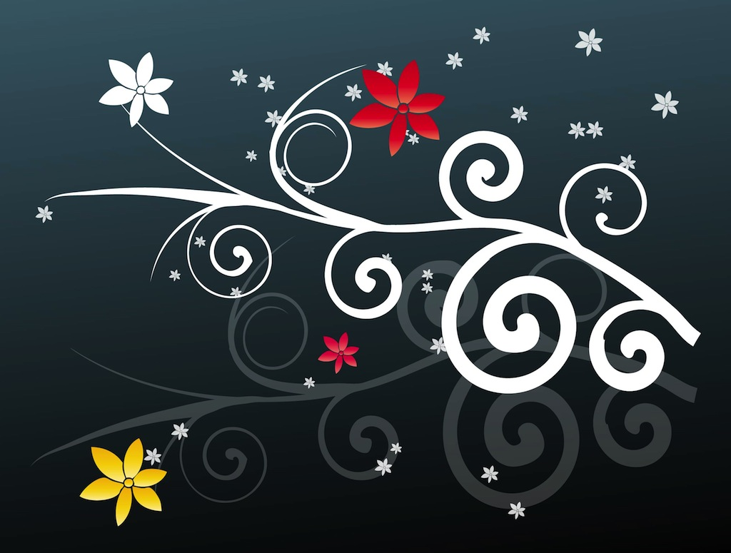 Floral Swirls Design