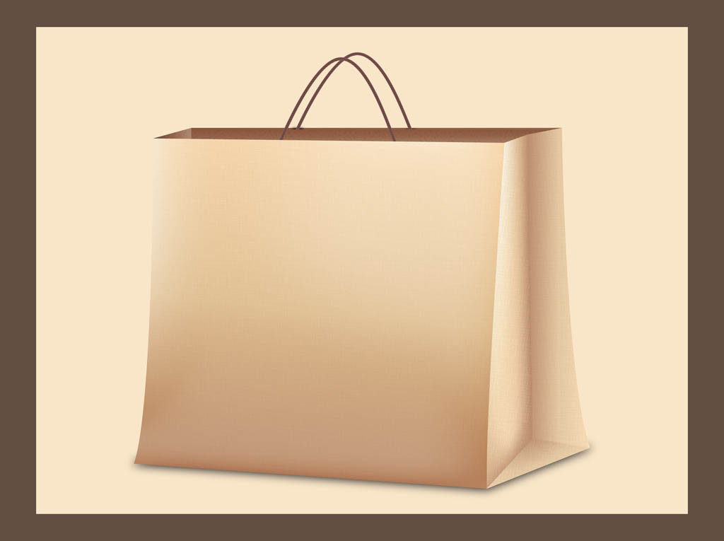 Paper Bag Design Vector Paper Bag Vector