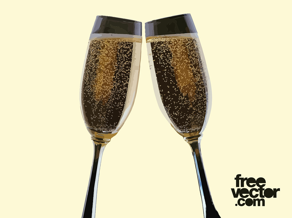 Champagne Glass Vectors