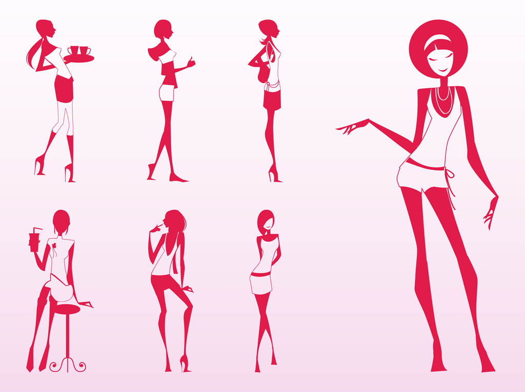 Glamour Girls Silhouettes