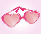 Heart Shaped Glasses Vector