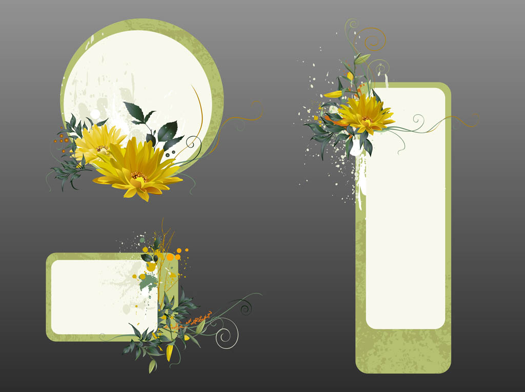 Floral Label Templates