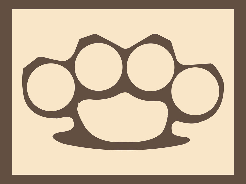 Brass knuckles vector for Brass knuckles template