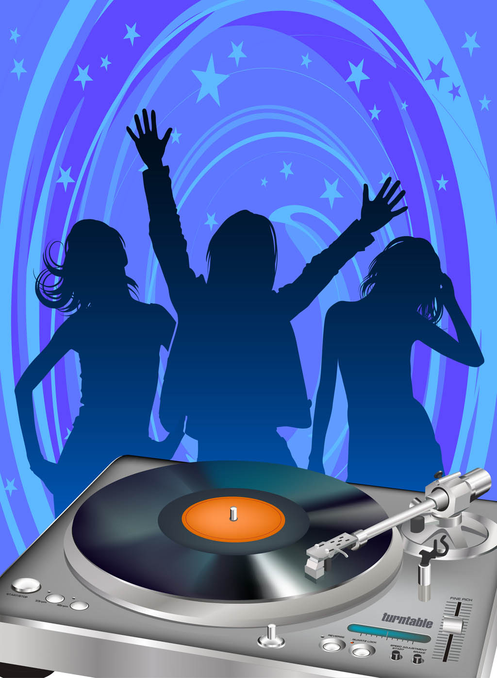 disco party poster template vector art amp graphics