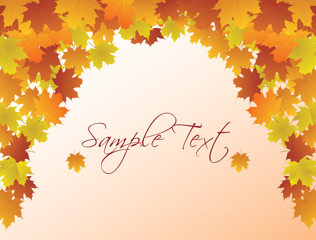 FreeVector-Autumn-Vector-Background October Weekly Newsletter Template Free on fourth grade, free office, mobile church,