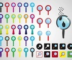 Magnifying Glasses Vectors
