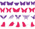 Butterfly Silhouettes Set