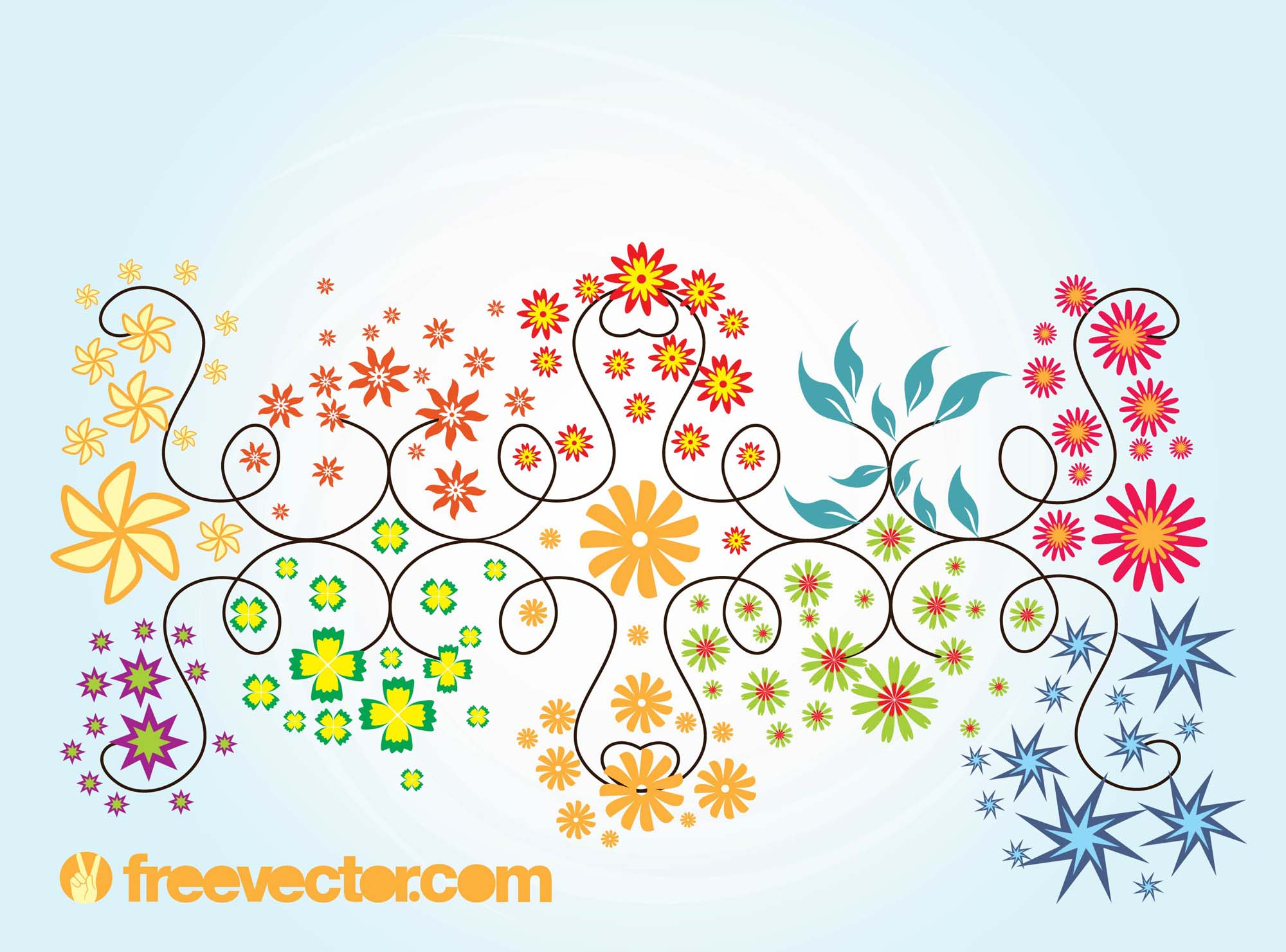 Floral Summer Vector Graphics
