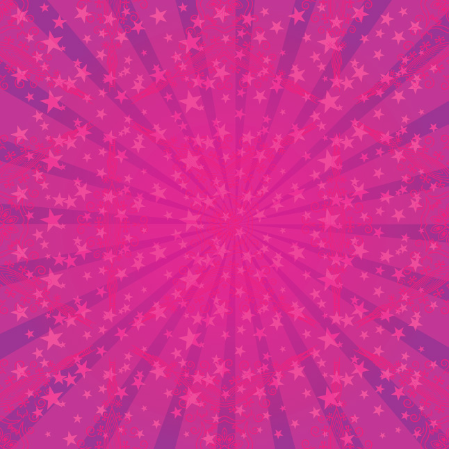 Pink Star Sunburst Vector