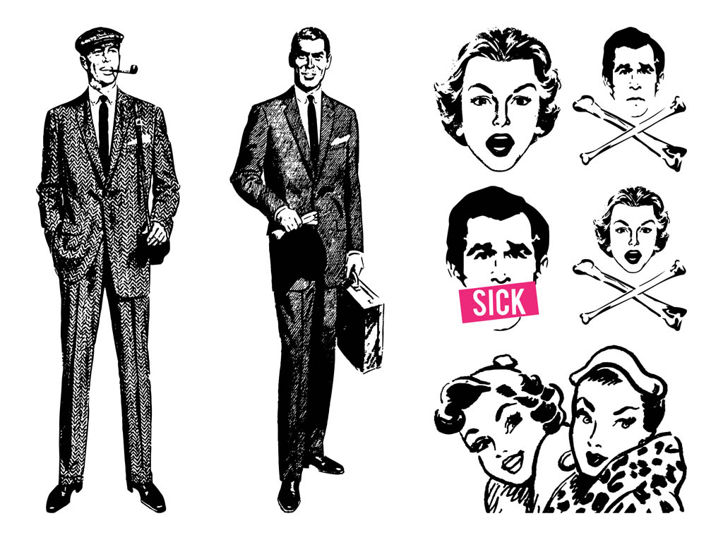 Retro People Designs
