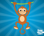 Monkey With Vine