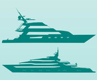 Sea Boats Vectors