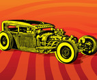 Hotrod Car Vector