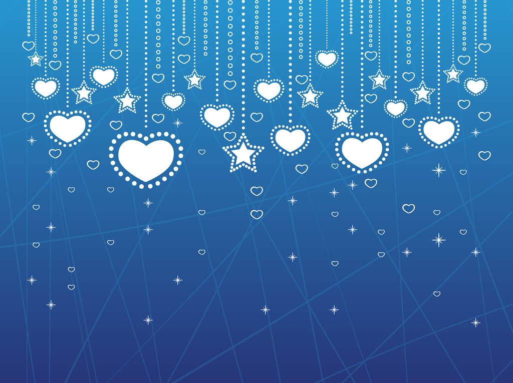 Heart Decorations Background