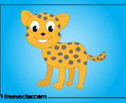 Cartoon Baby Cheetah