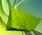 Green Abstract Vector Background Two