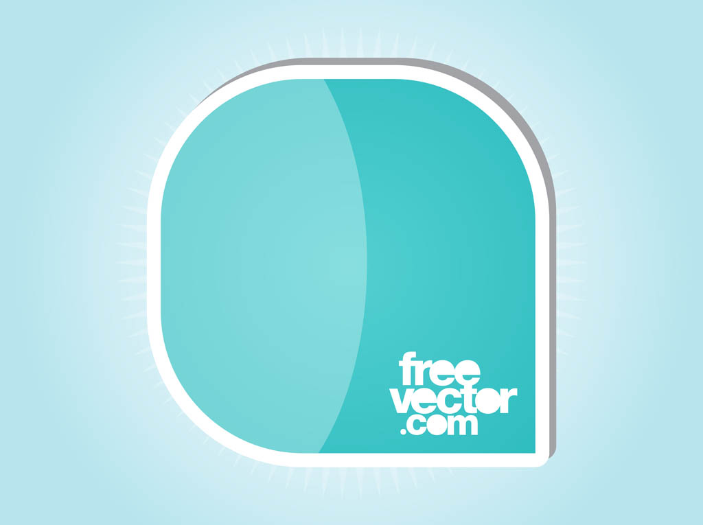 Sticker Design With Rounded Corners Vector Art Graphics