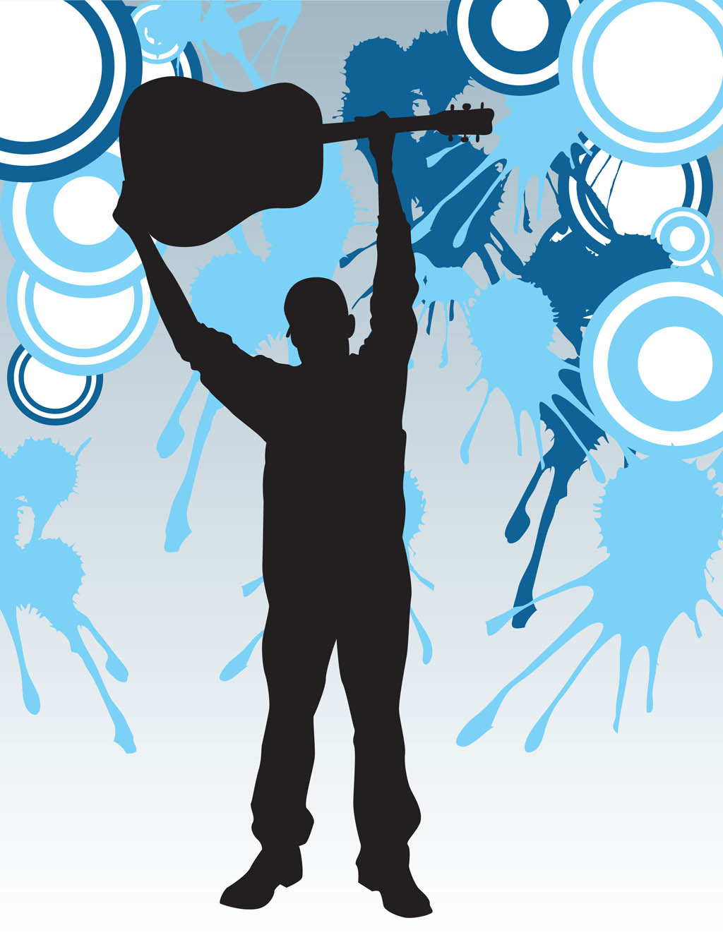Guitar Player Poster Template