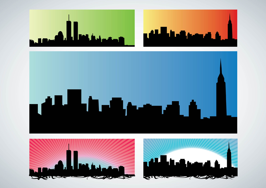 nyc skyline vector art graphics