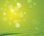 Green Blurred Lights Vector Background