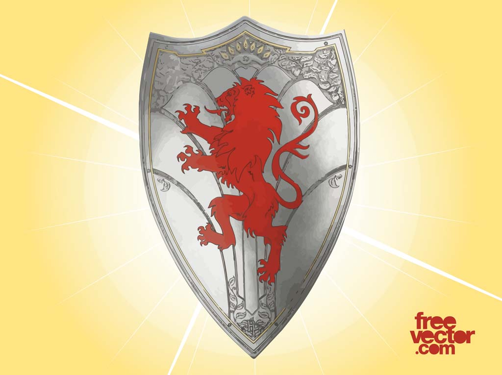 Knight Shield with LionKnight With Shield